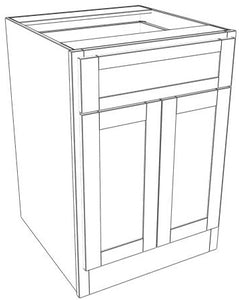 Pair Door Single Drawer Base Ogee