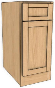 Single Door Single Drawer Base Ogee