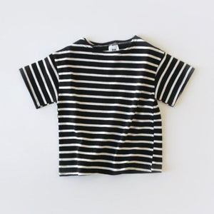 Striped T-Shirt (Blue, Black, Yellow)