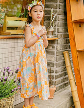 Load image into Gallery viewer, Girls Floral Sleeveless Dress