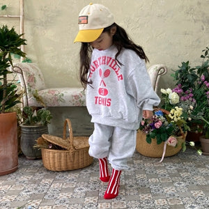 Tennis Sweatshirt & Jogger Set (2 Colors)