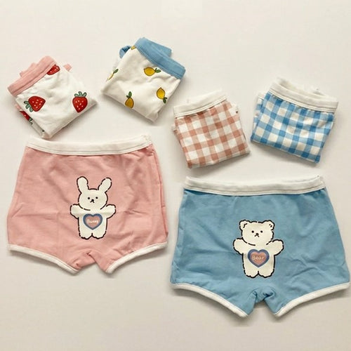 Kids Boxer Brief Bear & Bunny (3-Pack)