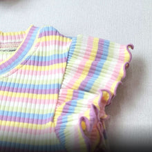 Load image into Gallery viewer, Girls Rainbow Striped Tank Dress