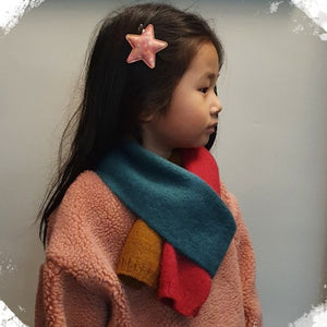 Rainbow Knitted Scarf (kids & adults)