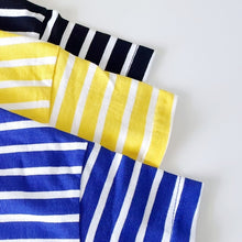 Load image into Gallery viewer, Striped T-Shirt (Blue, Black, Yellow)