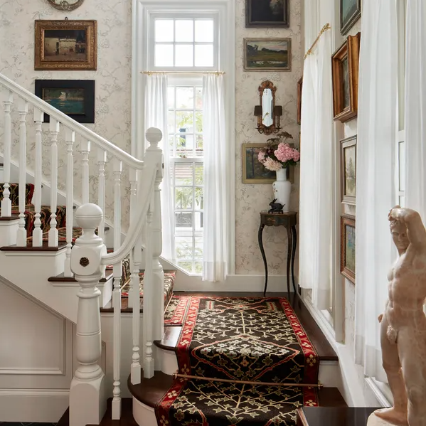 Using a Vintage Rug as a Stair Runner