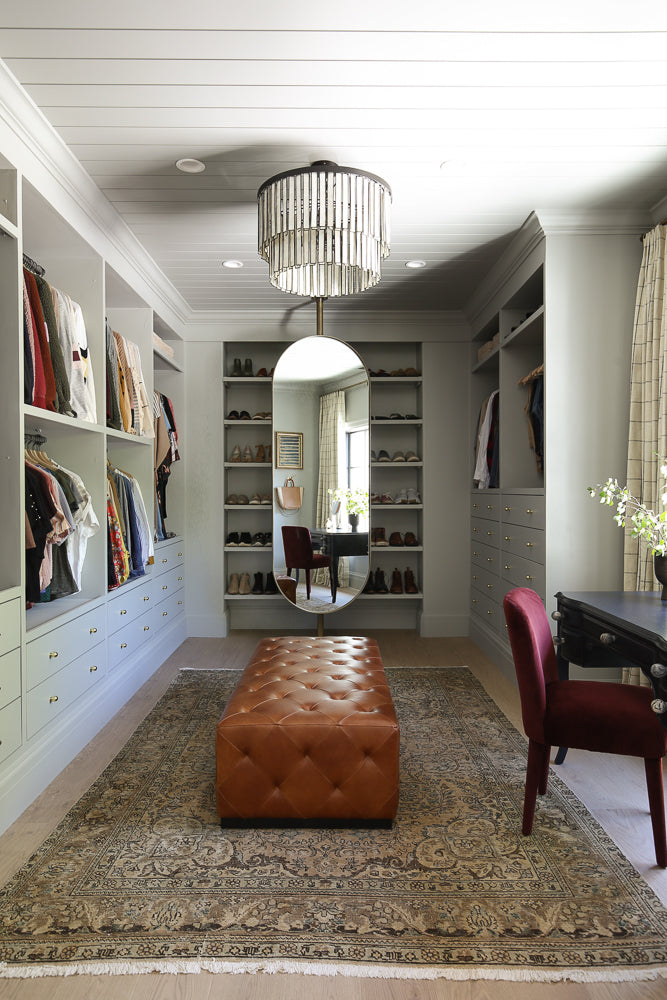 closet with vintage rug
