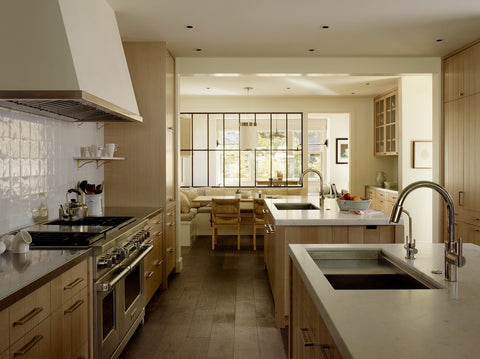 M. Elle Design Modern Farmhouse Kitchen with living room feel