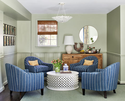 Byron Risdon Design - cool neutral sitting room inspiration - Bethesda MD project