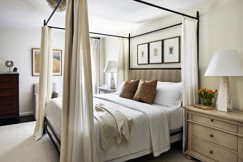 Byron Risdon Design - Bethesda MD calm neutral bedroom with transitional elements