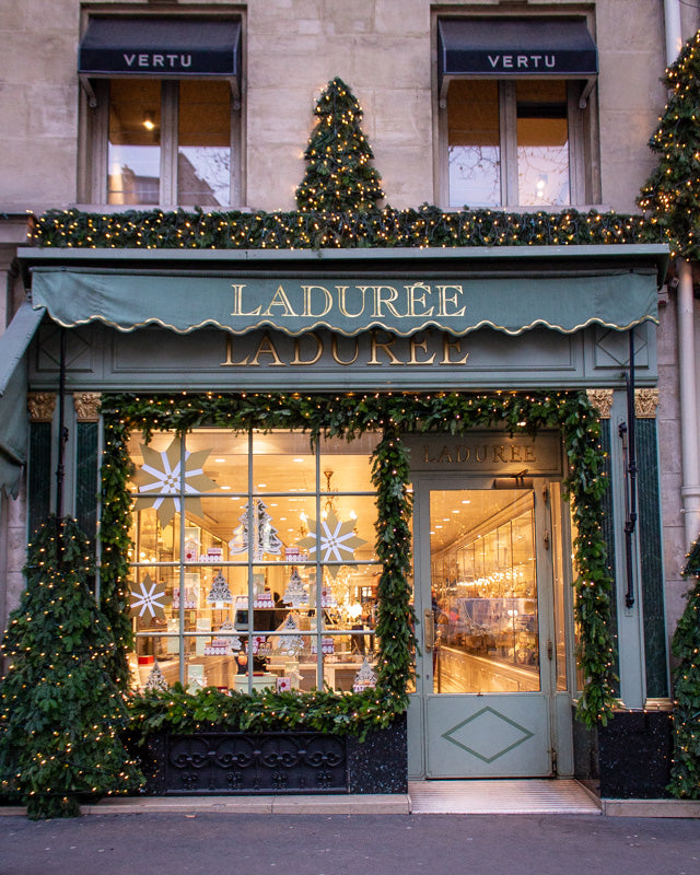 Laduree outfitted for Christmas