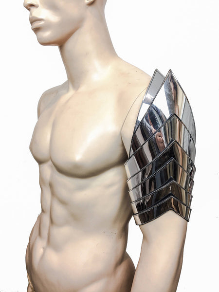 futuristic spartan shoulder armour custom made for men or women Robot heart
