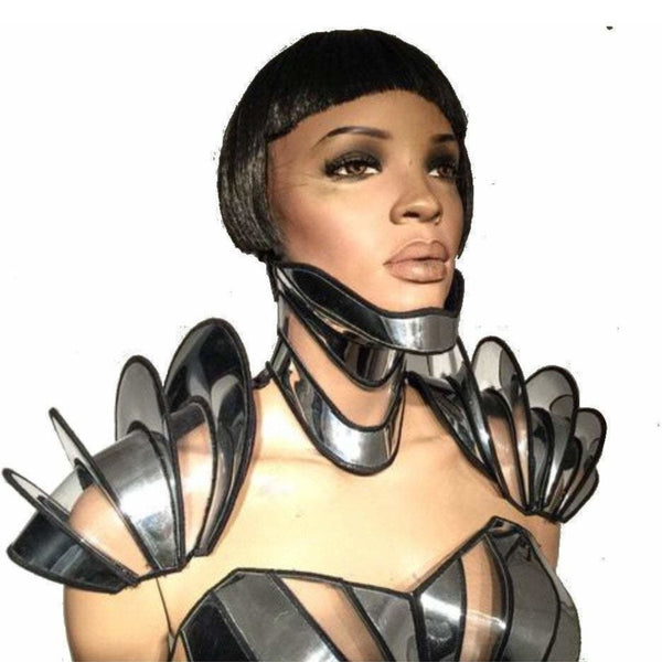 3 piece shoulder armour including posture collar armor