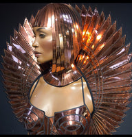 THE ORIGINAL Divamp goddess bolero stand up collar ,scifi robot futuristic stole shrug cybergoth wrap armor fetish egyptian costume