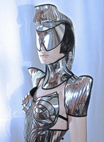 warrior scifi shoulder pads , epauletes ,shoulder armour , futuristic shoulder cuffs , epaulets