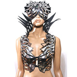 medusa helmet modern warrior helmet scifi warrior headpiece armor sci fi  futuristic steampunk cyber headdress superhero