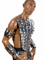 Woven Warrior FRONT plate ,MET gala outfit, futuristic armor, bustplate, armour, future gladiator