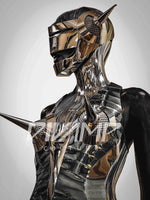 "Big Robot poster, Futuristic Artwork by Divamp Couture wall hanging homedeco , high gloss photo print""Where Giger met Sorayama"" scifi,cyborg"