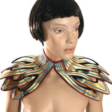 egyptian collar neck corset shoulder armor necklace choker in gold slave collar victorian edwardian fetish steampunk cyber goth