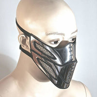 mouth Bane mask masquerade steampunk mask, chrome facemask, futuristic mask, metal muzzle,mad max mask