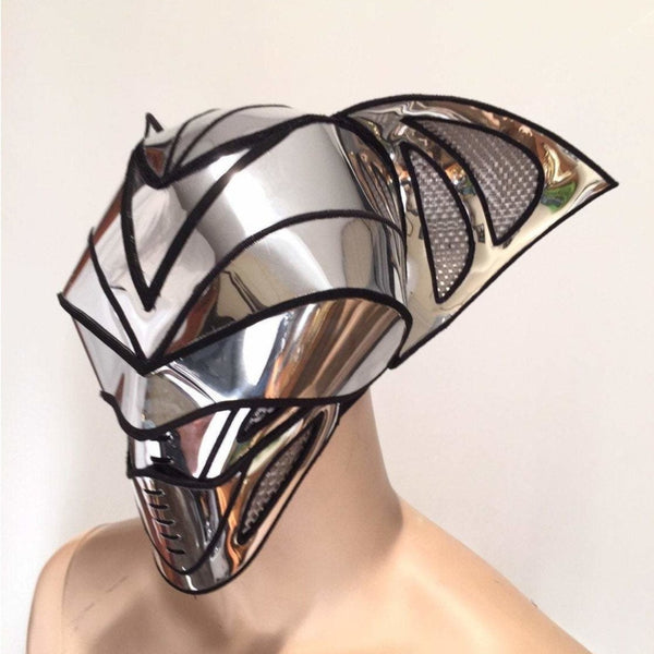 2 piece bat predator cyborg mask headpiece