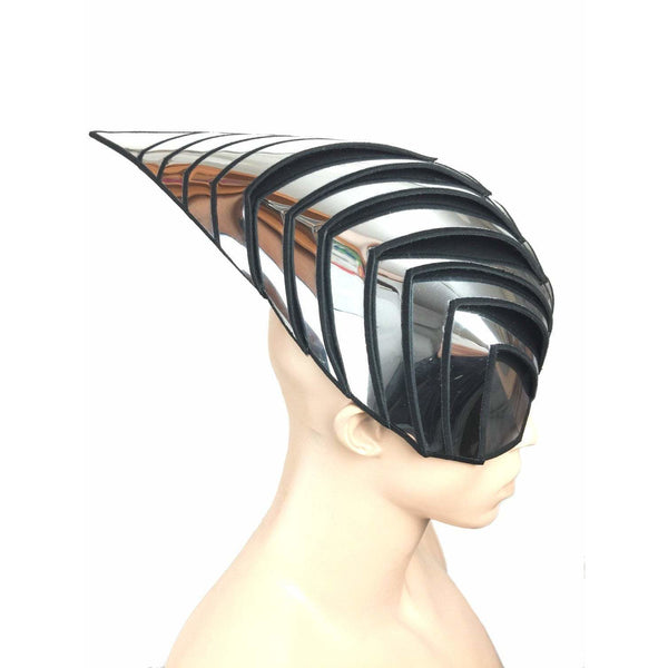 Wasp inspired cyborg mask headpiece robot armor sci fi  futuristic steampunk cyber headdress cybergoth divamp couture