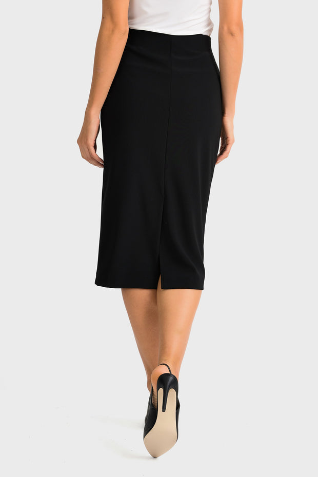 Joseph Ribkoff Black High Waist Pencil Skirt  Style 163083