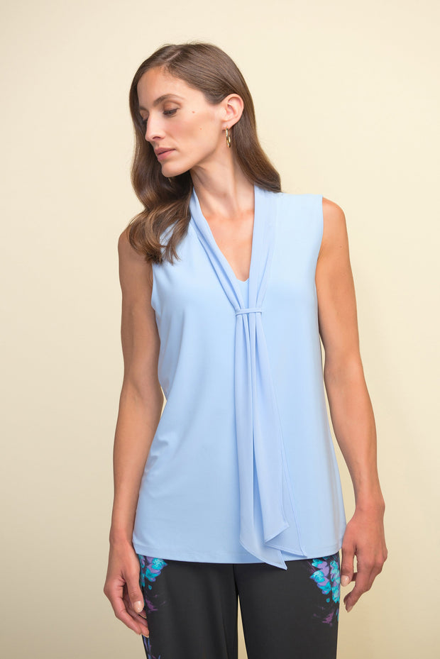 Joseph Ribkoff Moonlight Sleeveless Tie Front Top Style 211229