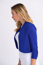 Joseph Ribkoff Royal Saphire 3/4 Sleeve Button Accent Bolero  Style 32083