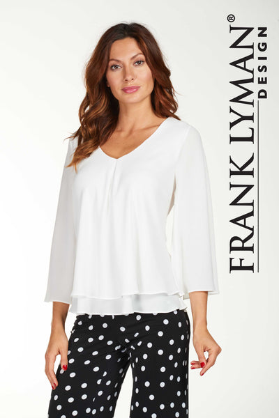 Frank Lyman Off-White Top Style - 176335