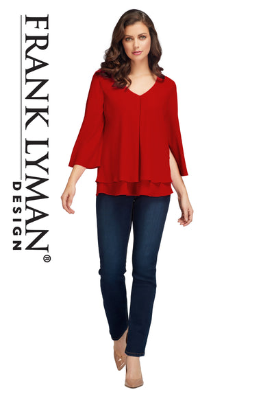 Frank Lyman Tomato Red Top Style - 176335