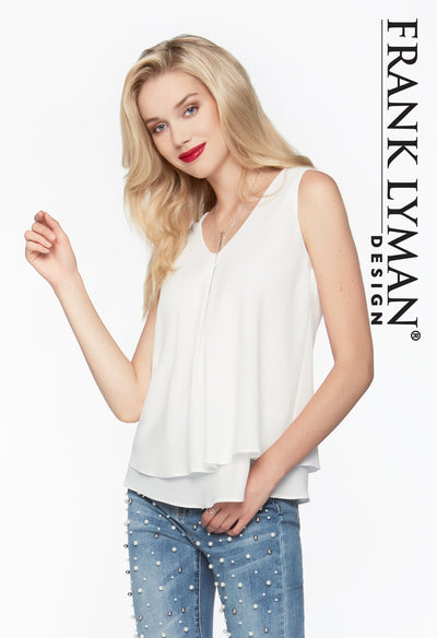 Frank Lyman Off-white Top Style - 61175
