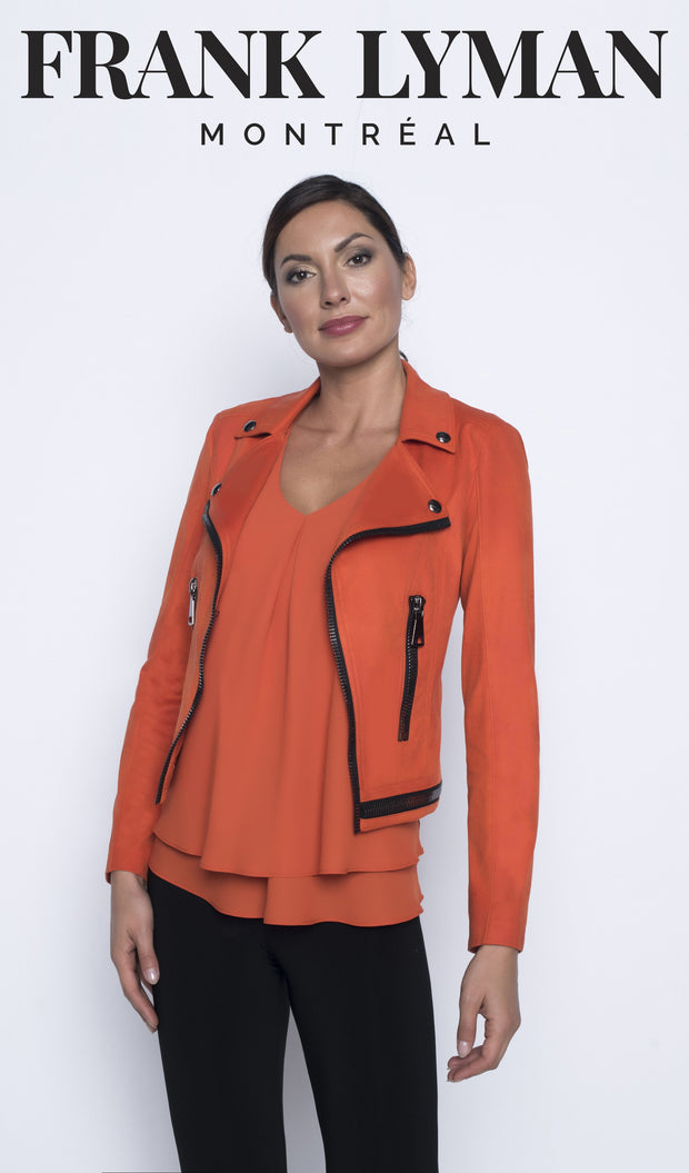 Frank Lyman Orange Jacket Style  196085U