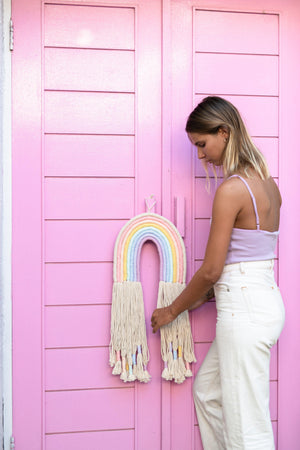 Rainbow Wall Hanging - Large long tassels