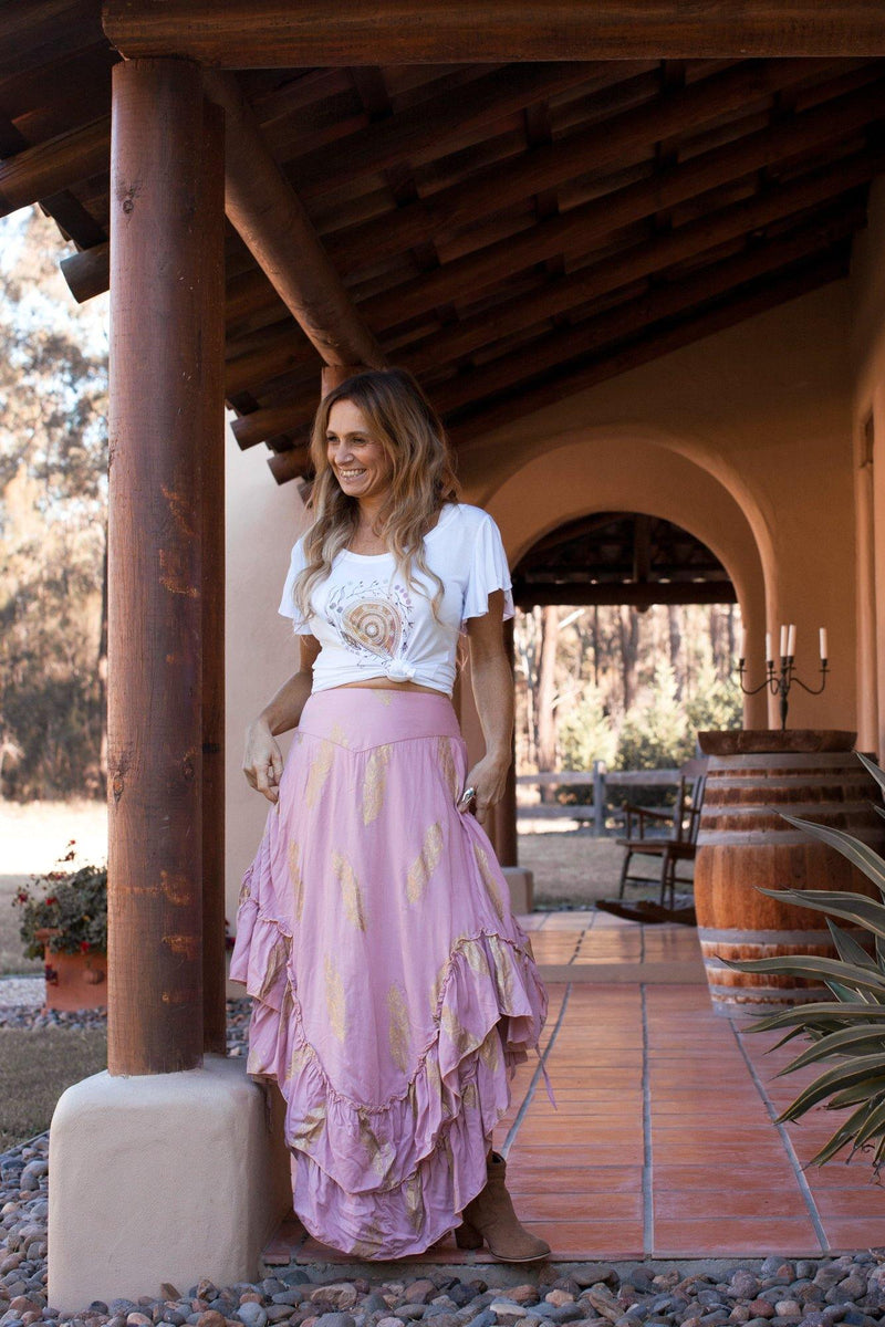The Kasey Skirt - Blush Pink