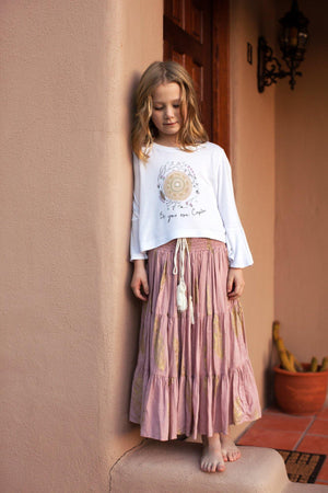 The Poet Skirt - Blush Pink