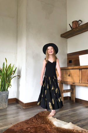 The Poet Skirt - Black and Gold