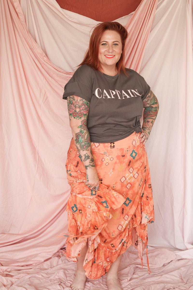 The Kasey Skirt - Captain Print