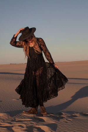 The Florence Dress - Black Lace
