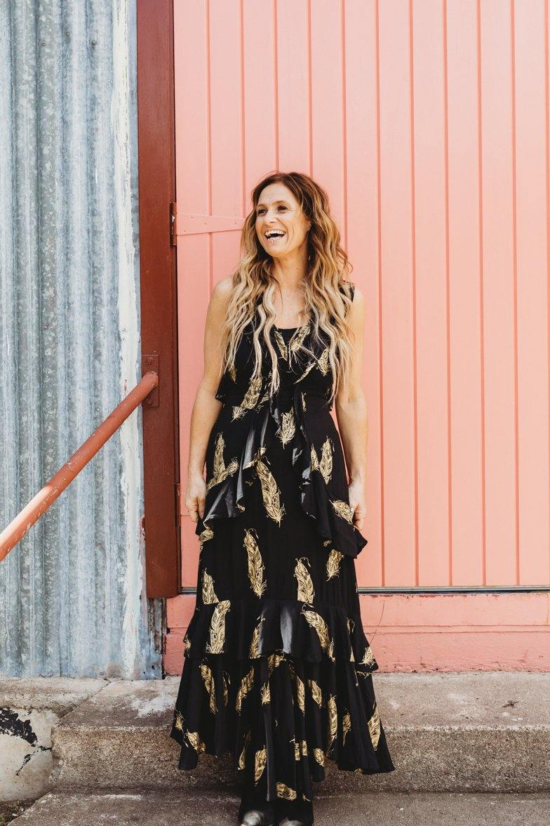 The Kasey Dress - Black and Gold