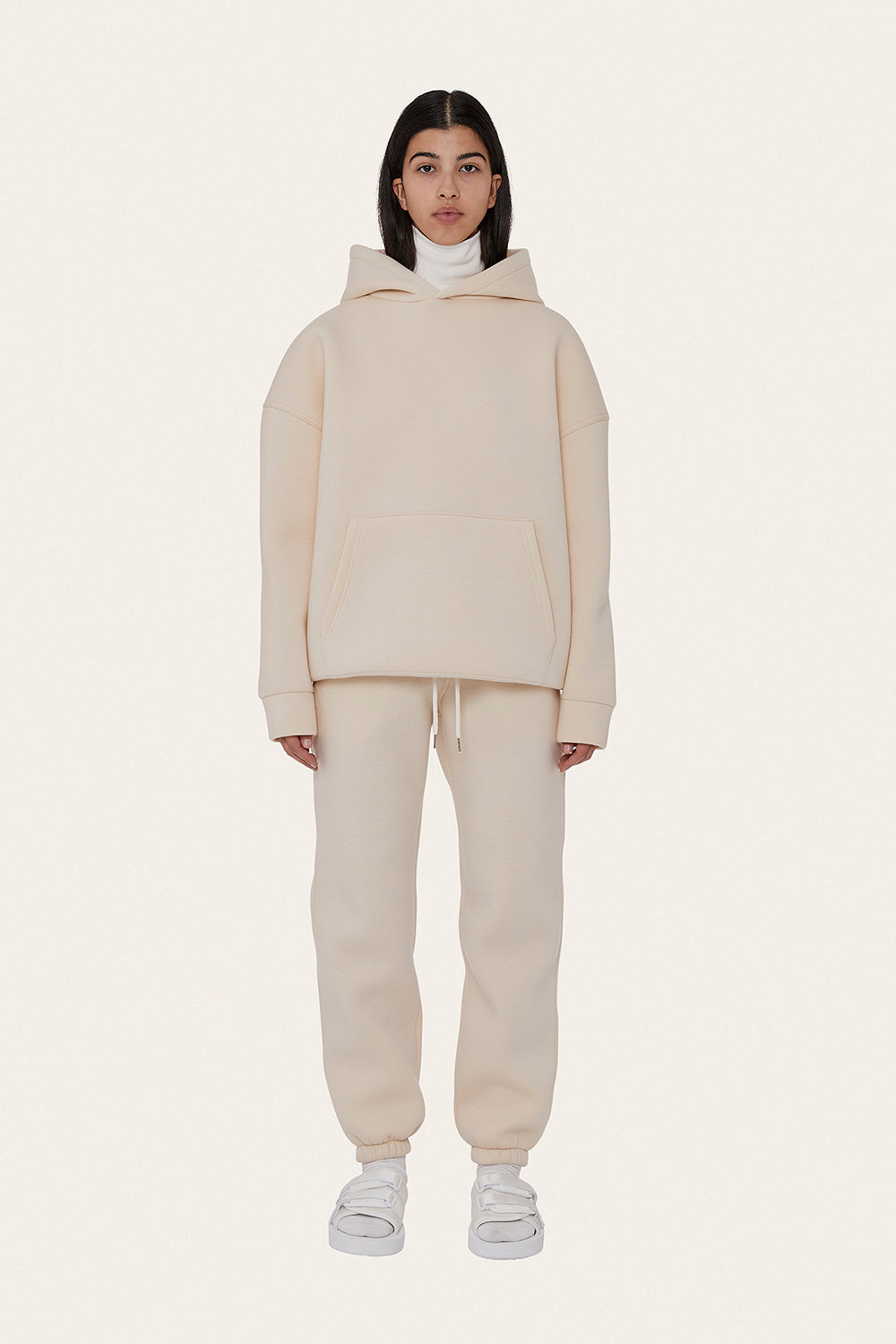 Airport Suit Hoodie in Milk White