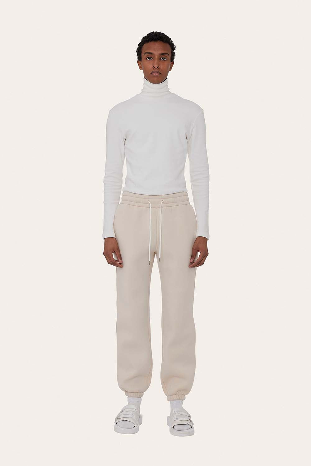 Airport Suit Joggers in Milk White