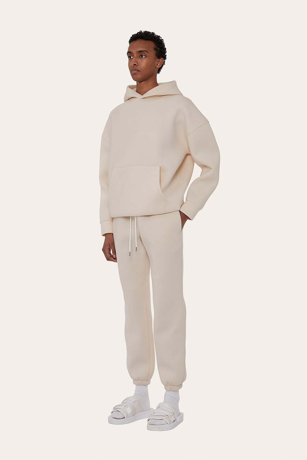 Seventh product - Airport Suit Hoodie in Milk White