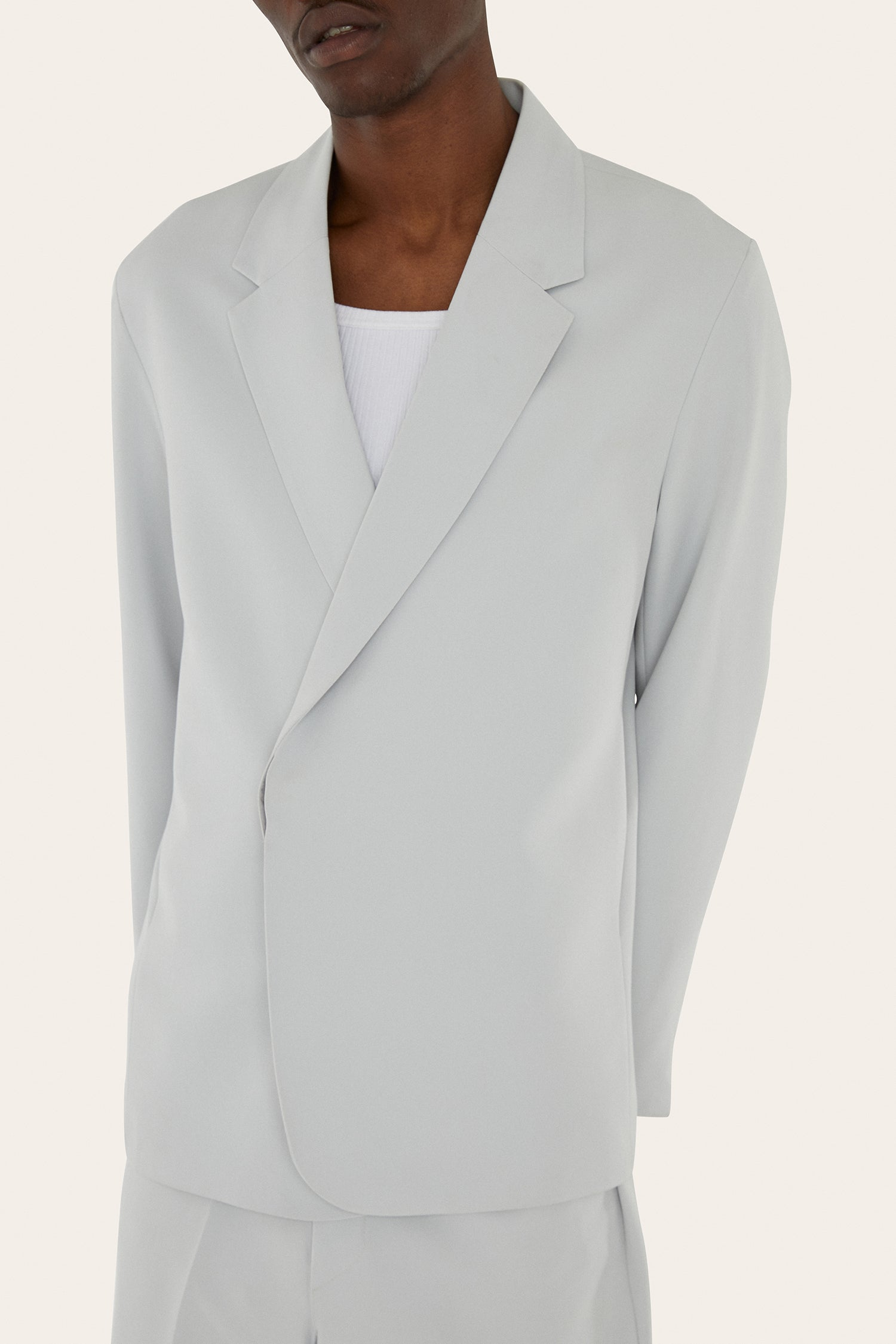 Crossbody Blazer in Cold White