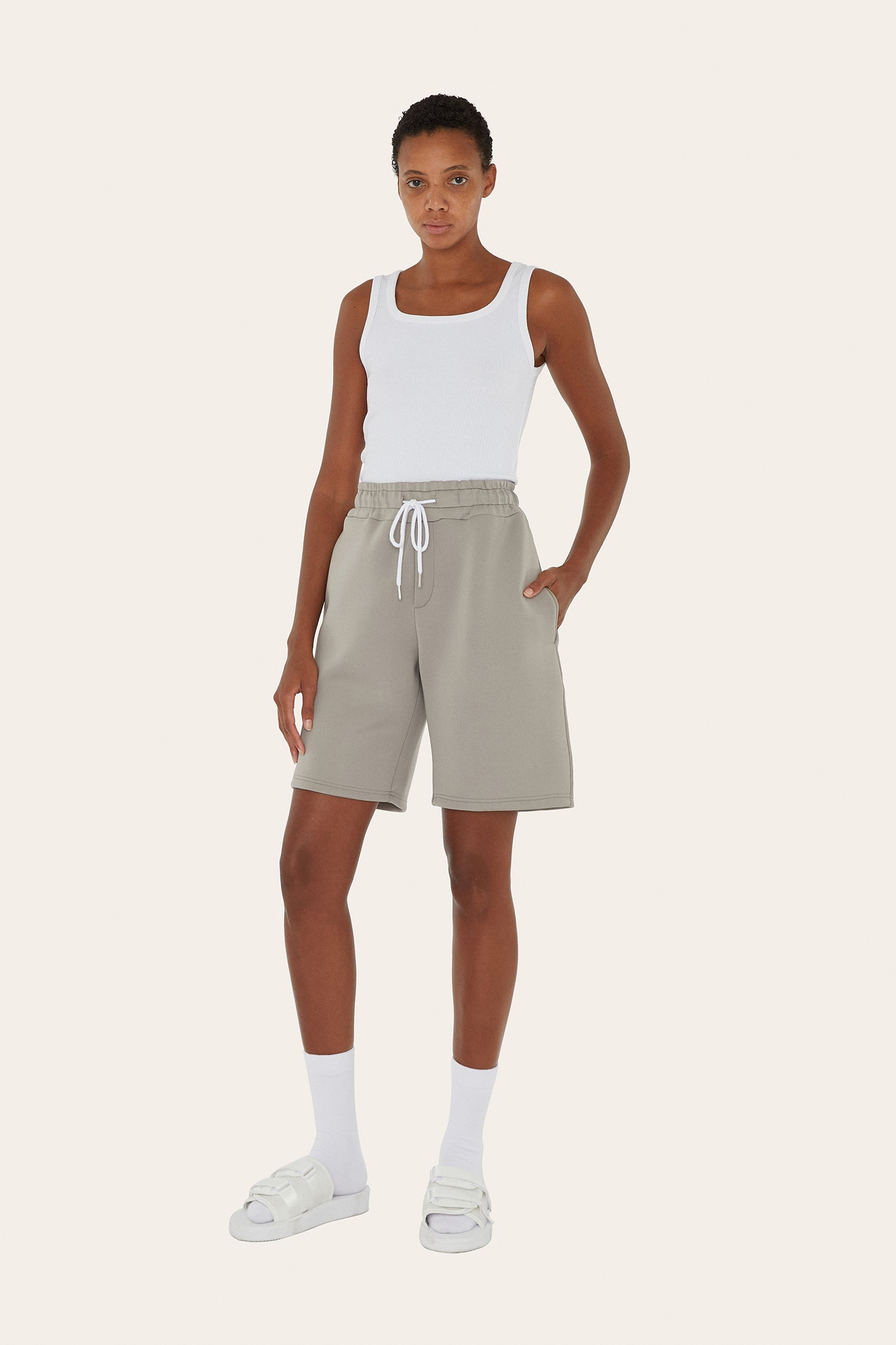 Seventh product - Boxy Shorts in Sage