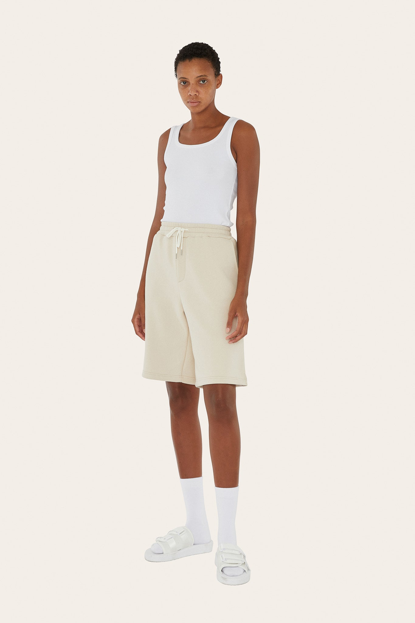 Seventh product - Sweat Shorts in Butter