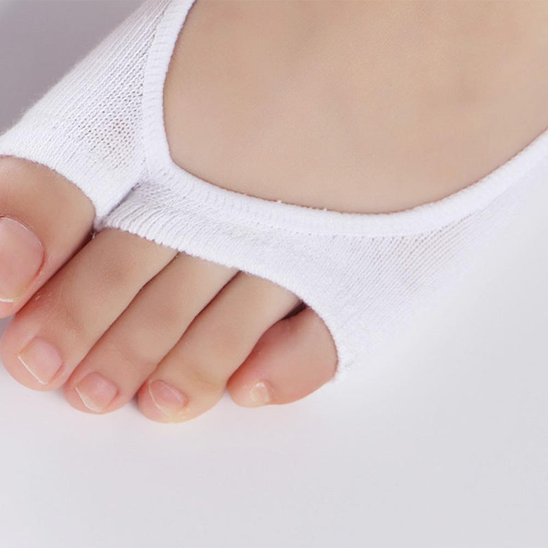 Open-toed Silicone Pad Liner Socks