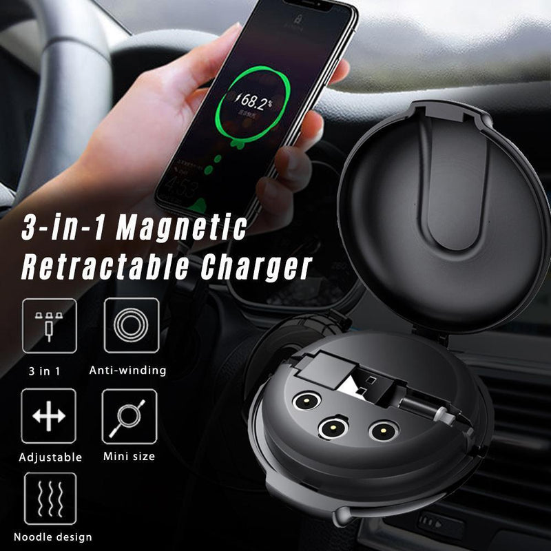 3-in-1 Magnetic & Retractable Charger