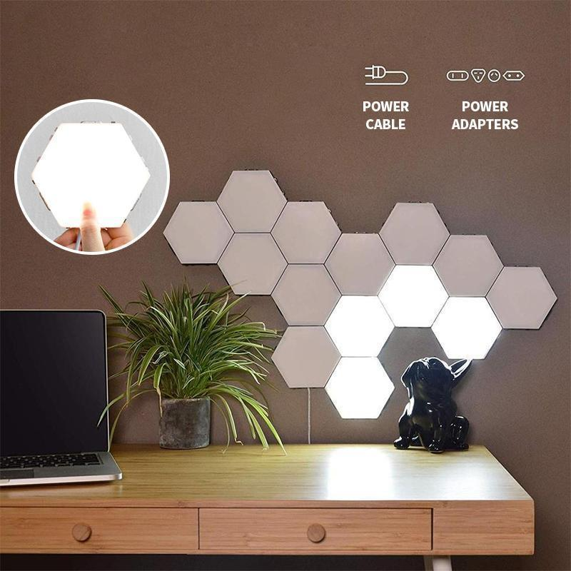 haloera™ Hexagonal Wall Lamp Creative Geometry Assembly