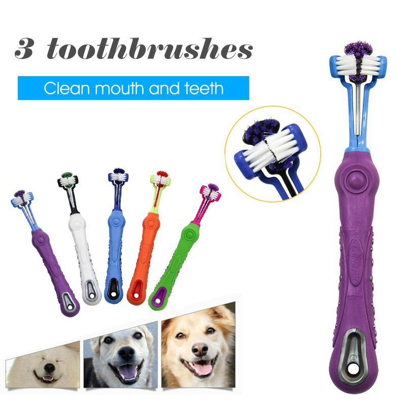 Three Sided Pet Toothbrush